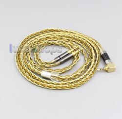 Pure OCC Silver+Golden Plated Headphone Cable For Hifiman Sundara Ananda HE1000se HE6se he400 LN005976