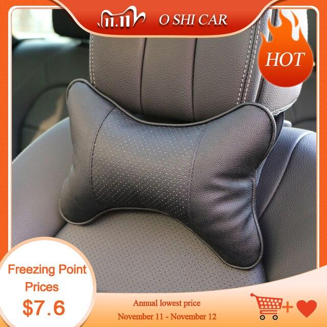 2 PCSรถยนต์หมอนป้องกันคอ/รถHeadrestขุดหลุมออกแบบ/Auto Suppliesหมอนคอ