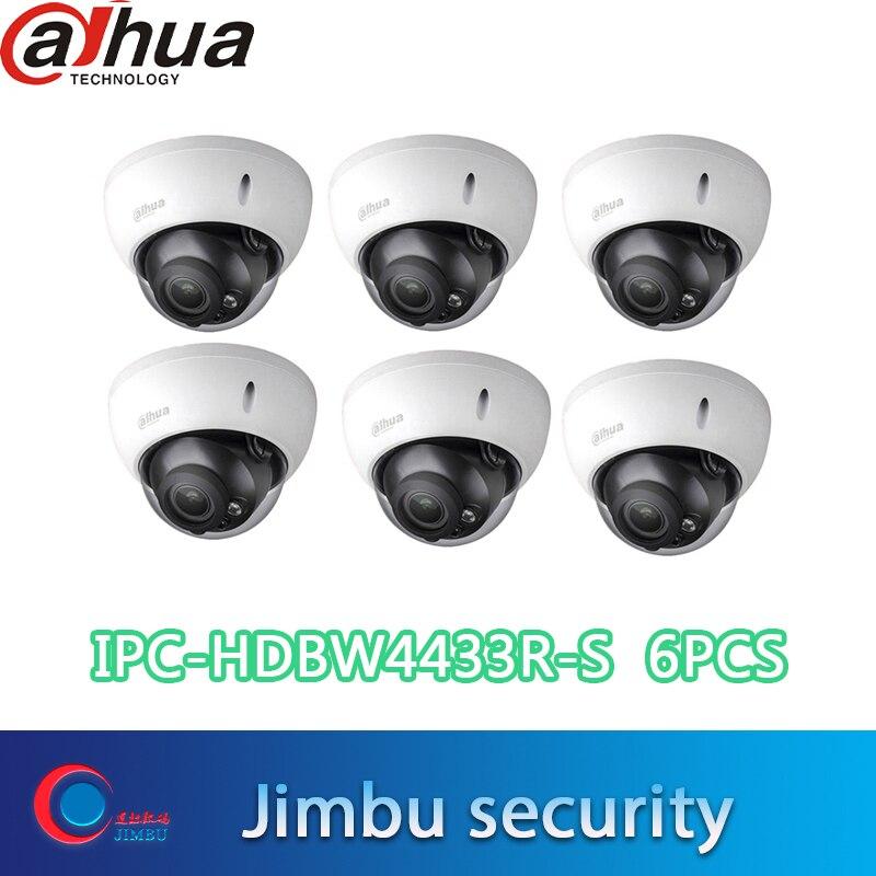DH-IPC-HDBW4433R-S dahua 4 mp caméra IP poe 4mp caméra dôme vandale poe 6 pièces