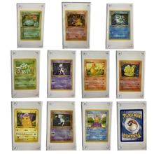 10 Pçs/set 1996 Eerste Editie Cartões De Pokemon Pikachu Charizard Venusaur Squirtle Mewtwo Geen Game Collection Cartão Preso Tijolo