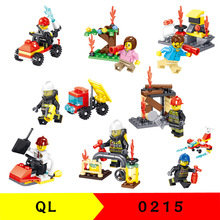 QL0215 building blocks fire pioneer small particles assembled children's educational toys no box машинка pioneer toys fire department 26 цвет красный
