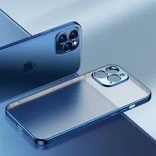 Phone-Case Frame Silicone Cover Transparent Mini Luxury for 12 11-pro/Max/Mini/.. Plating