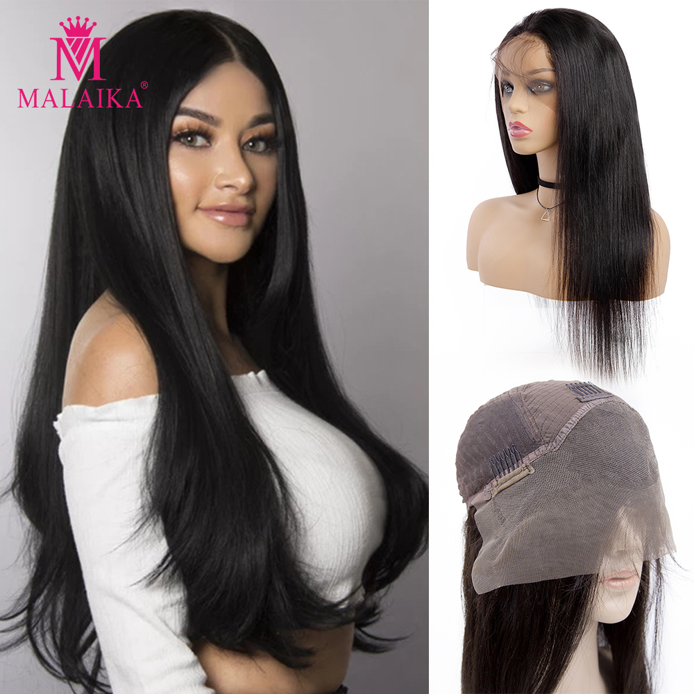 10- 26 Inch Straight 13x4 Lace Front Human Hair Wigs Brazilian Wig With Baby Hair MALAIKA Hair 13x4 Lace Frontal Wig Pre Plucked