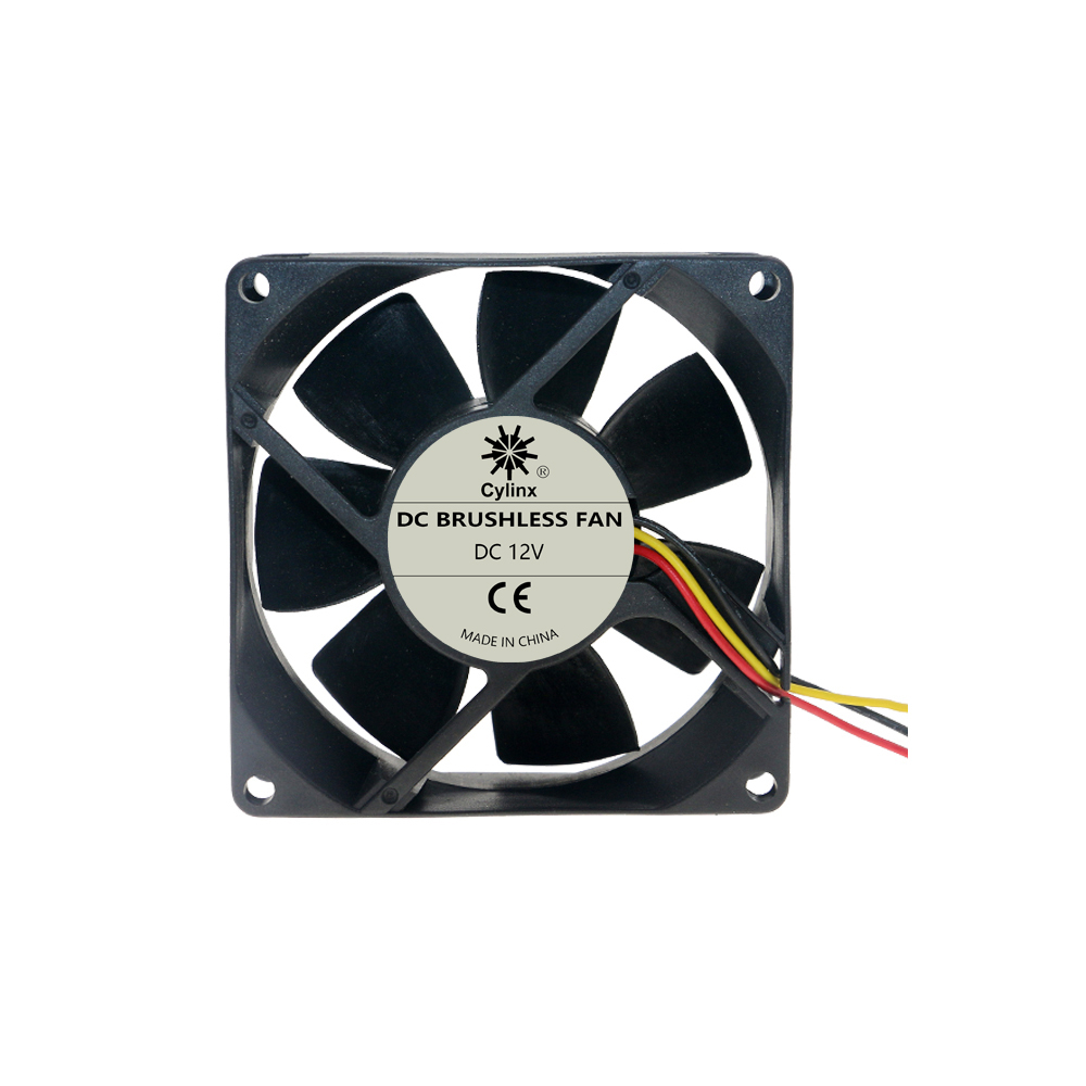 Quiet 3 Pin 8025 Cooling-<font><b>fan</b></font> DC12V 8cm/<font><b>80mm</b></font>/80x80x25mm Computer/<font><b>PC</b></font>/CPU Silent Cooling Case <font><b>Fan</b></font> Double ball Bearing image