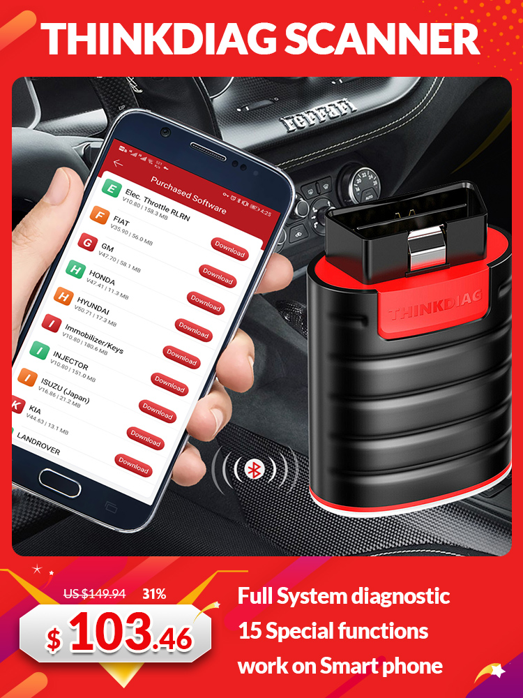 Code-Reader-Scanner Diagnostic-Tool Service Easydiag Bluetooth All-System Obd2 Thinkcar Thinkdiag