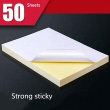 50 листов A4 белый струйный лазерный принтер бумага крафт копир наклейки Поверхность матовая бумага утолщение для печати древесная целлюлозная бумага