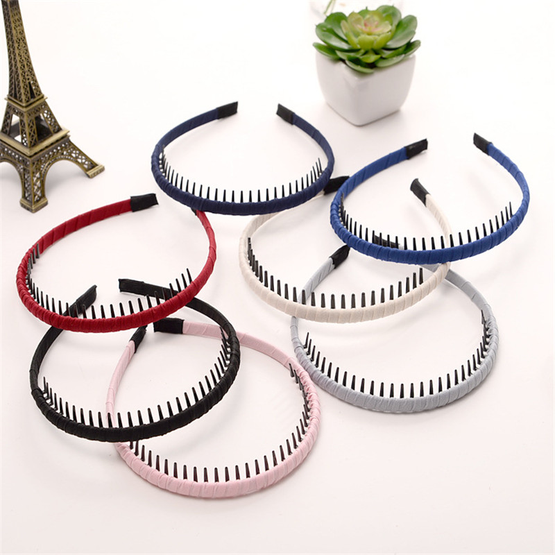 5pcs Fashion Women Girls Hairbands High Quality Mix Color Hair Hoops Cloth Wrap Headbands With Teeth For Ladies Hair Accessories