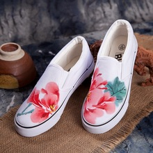 Chinese ink wind canvas shoes Women casual