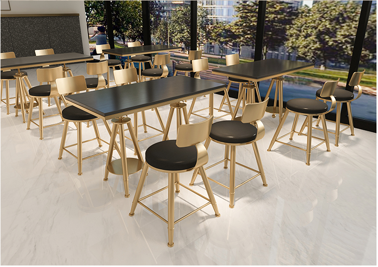 Купить с кэшбэком Table and chair combination of Nordic modern net red milk tea shop simple and fresh coffee shop dessert shop iron chair small ta