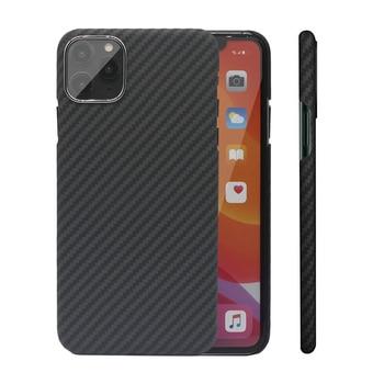 Carbon Fiber Case for iPhone X XS Max XR 7 11 12 Mini Cases Aramid Fiber Ultra Thin Phone Cover for iPhone 12 11 Pro Max SE Case 1