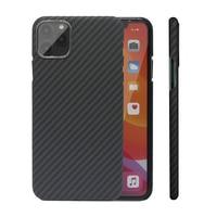 Caso de fibra de carbono para o iphone x xs max xr 7 8 plus 11 casos fibra aramida ultra fina capa do telefone para o iphone 11 pro max se2