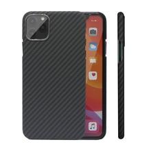 Funda de fibra de carbono para iPhone X, XS, Max, XR, 7, 11, 12, Mini, cubierta del teléfono Ultra fino