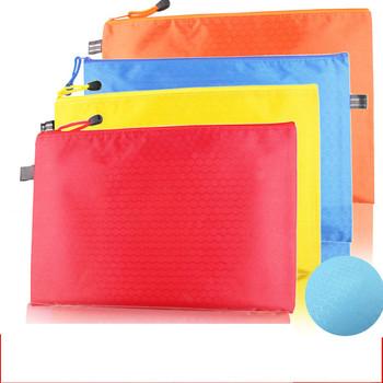 Torba na dokumenty siatki na zamek błyskawiczny do przechowywania informacji torba materiały biurowe szkolne materiały papiernicze A4 Test wodoodporna torba papierowa szkolne tanie i dobre opinie S-2005A4 Orange pink red yellow dark blue green light blue
