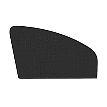 New Car Sunshade Black Mesh Side Block Car Fender Flare Wheel Lip Rubber Window Sunshade Cover Car Window Side Sun image