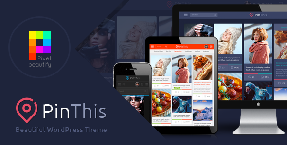 PinThis Pinterest风格WordPress主题