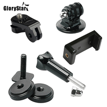 GloryStar Hot Shoe Kit Include Mount Adapter Universal Phone Holder Thumbscrew for Attaching Phone or GoPro Go Pro Hero on DSLR