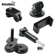 Glorystar Hot Shoe Kit Omvat Mount Adapter Universele Telefoon Houder Duimschroef Voor Bevestigen Telefoon Of Gopro Go Pro Hero Op dslr