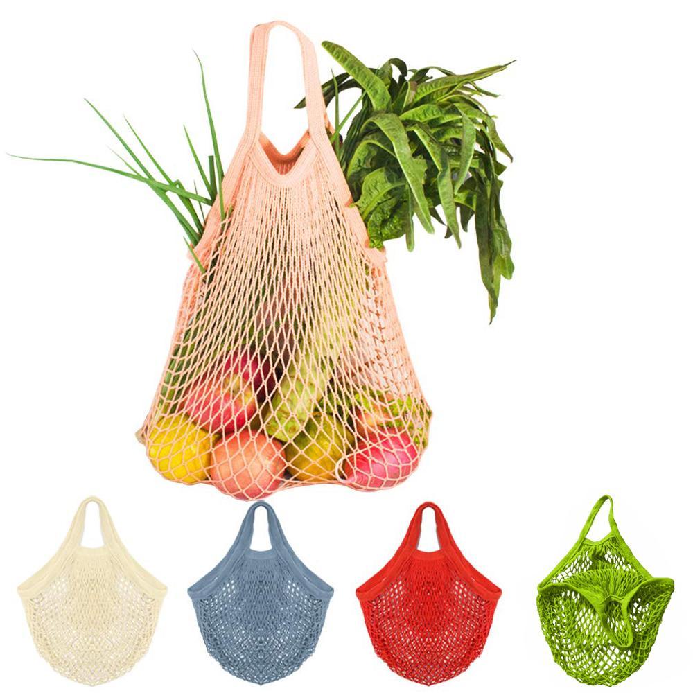 Reusable Mesh Net Turtle Bag String Shopping Bag Hanging Storage Fruit Vegetables Storage Handbag Totes Home Storage Bags