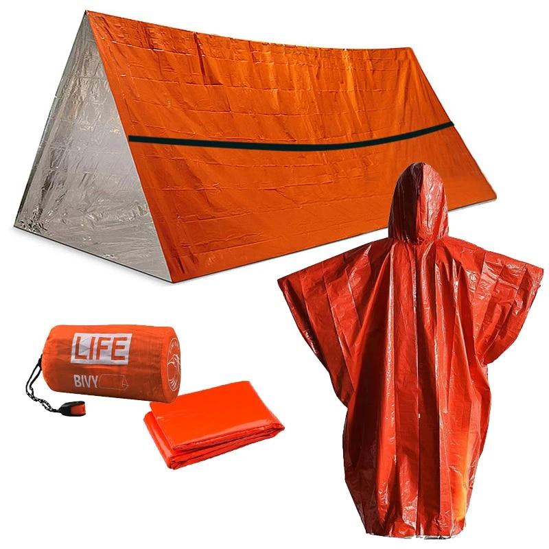Emergency Sleeping Bag Thermal Waterproof Shelter Tent Outdoor Camping Survival