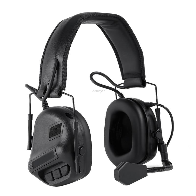 Тактическая гарнитура для шлема с быстрым адаптером для шлема, военная гарнитура для страйкбола и фотосъемки на открытом воздухе-2