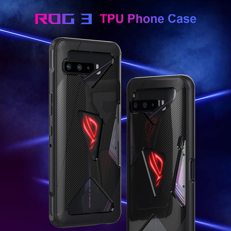 For ASUS ROG Phone 3 lll ZS661KS Anti fingerprint Shockproof Breathable Heat Soft Back Cover For Rog 3 Mobile Phone Accessories Phone Case & Covers  - AliExpress
