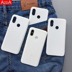 Белый матовый ТПУ силиконовый Fundas для Xiaomi редми Примечание 7 5 6 8 9 Pro 8Т 4X 5A 4A Плюс 7А, 8А 6A 7A Ми 9Т A1 A2 8 Lite 9 SE F1, чехол
