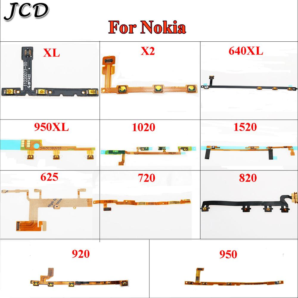 JCD Power Button Switch Volume Button On / Off Flex Cable For Nokia XL X2 640XL 950XL 1020 1520 625 725 820 920 950 image