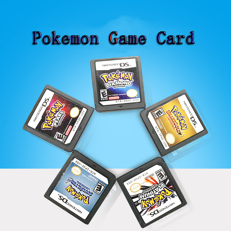PokeMon Series DS Game Cartridge Console Card Diamond HeartGold Pearl Platinum SoulSilver EU Version for Nintendo DS 3DS 2DS image