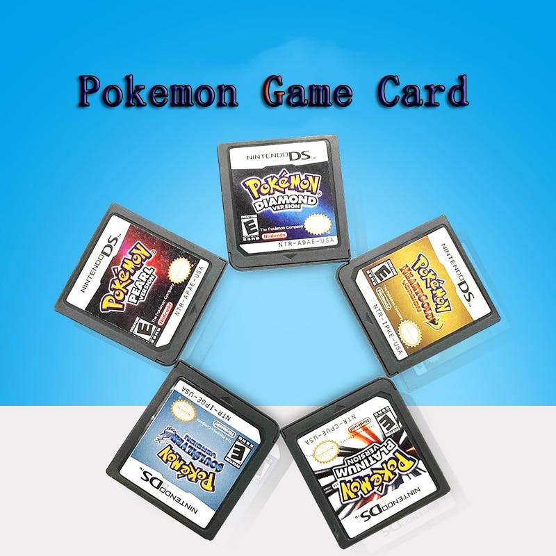 Galleria fotografica Cartuccia di gioco PokeMon Series DS cartuccia Console Diamond HeartGold Pearl Platinum SoulSilver versione ue per <font><b>Nintendo</b></font> DS 3DS 2DS
