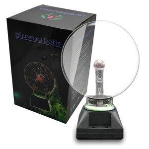 Image 5 - 8 polegada/203mm plugue da ue novidade iluminação plasma bola de vidro lâmpada esfera mágica decorativa lâmpada natal ano novo crianças presente