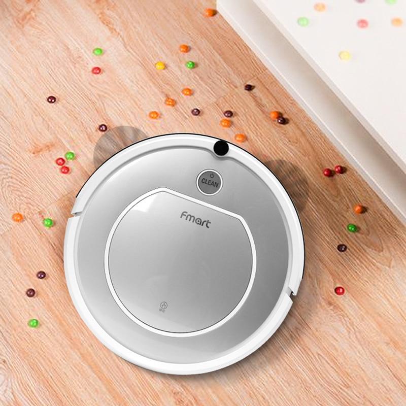 Limpiador al vacío de Robot Fmart ZJ T1 limpieza en seco para el cabello de mascota limpieza inteligente Zigzag con Robot de Recarga Automática de succión de 800 pa vacío - 4