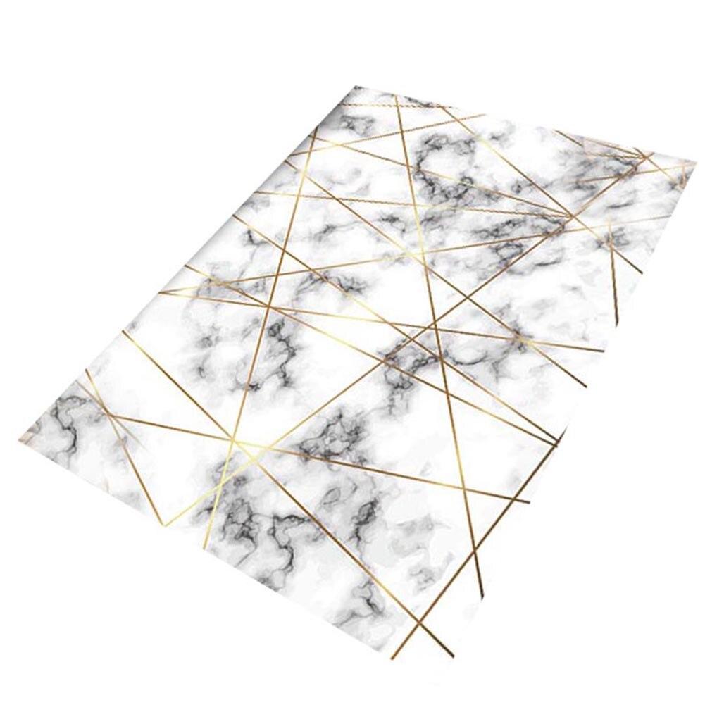 Tapis marbre doré lignes géométriques marbrure décor à la maison tapis de sol tapis LXY9
