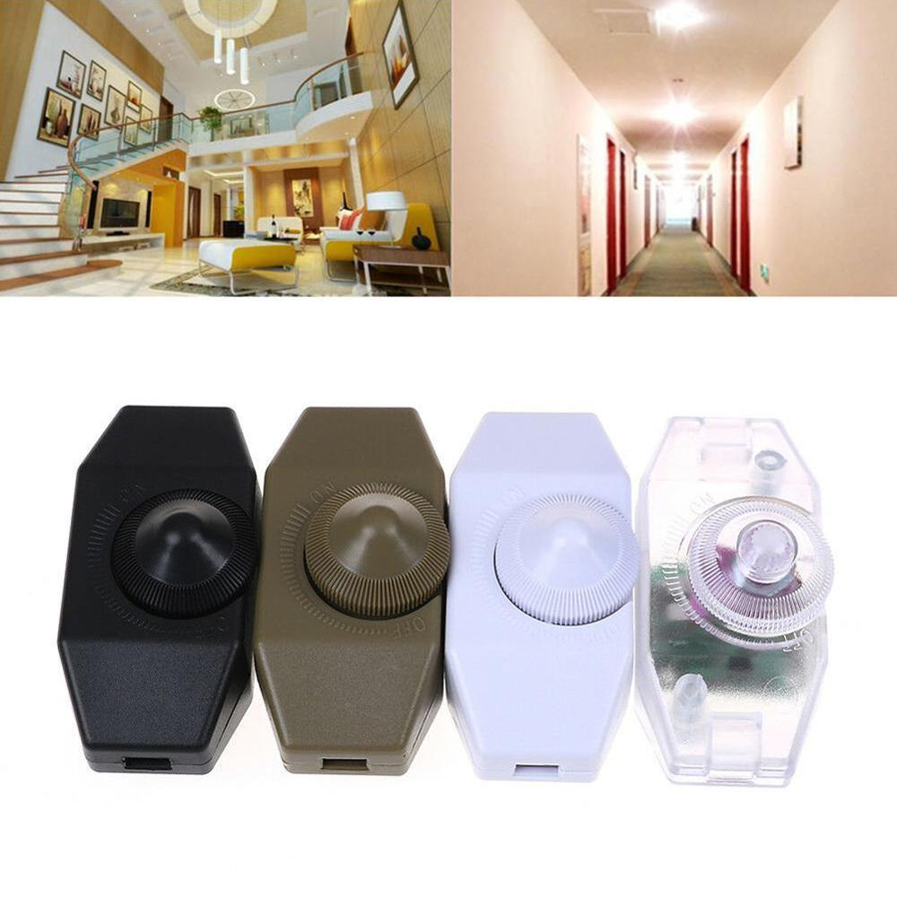220V 1A Manual Knob Floor Table Lamp In Line 15-60W Dimmer Switch Use Adjustable Controller Knob Switch