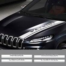 Autocollant pour capot de voiture, pour Jeep Renegade Wrangler JK Rubicon Cherokee Patriot Trail Hawk Compass Liberty Commander, accessoires automobiles