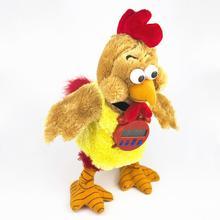 Электрический танцующий Пение Плюшевый петух куриный обратный отсчет кукла игрушка Рождественский подарок Игрушки для маленьких девочек мальчиков детей