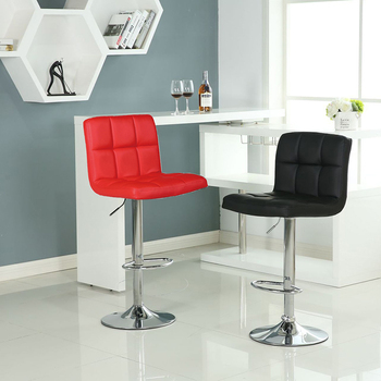 Fast Dispatch Set of 2 Counter Bar Swivel Chair Counter Stool Height Adjustable Kitchen Chair High Chair Contemporary PU leather wahson tufted round back swivel accent chair contemporary adjustable leather chrome vanity chair lounge pub bar bedroom white