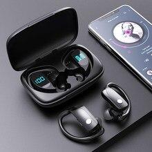 3500mah caixa de carregamento tws fone de ouvido sem fio bluetooth fones esporte jogos fones led power display música