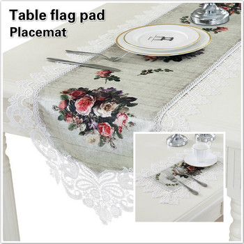 British Style Brocade Digital Printing Fashion Table Runner Flag Mat Placemat Set Home Hotel Villa Banquet Party Camino De Mesa image