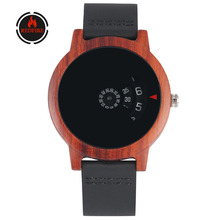 REDFIRE reloj masculino Natural Red Wood Men Watches Unique