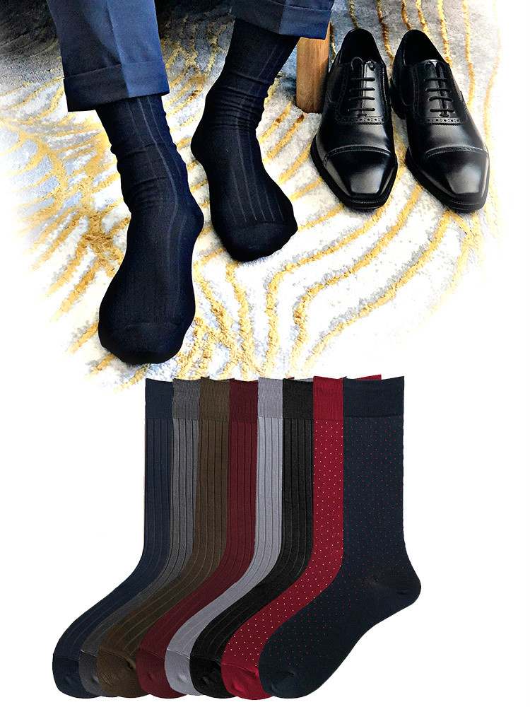 Tube Socks Men's Formal Dress Socks Business Men Streetwear Stocks Men's Socks Workplace Dress Socks Sexy Quality Business Socks