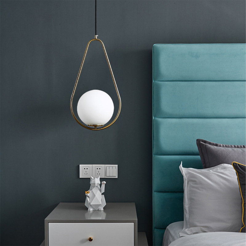nordic luminaria pendente hanging lamp iron LED  pendant lights bedroom|Pendant Lights| |  - title=
