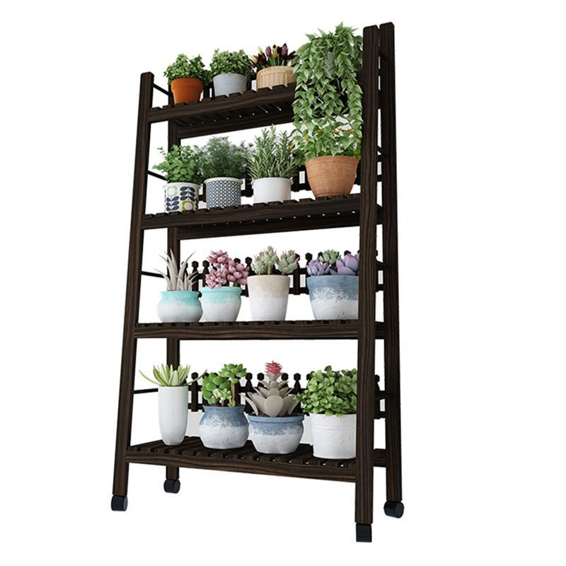 Plantas Indoor Pot Terraza Estante Para Flores Huerto Urbano Madera Rack Dekoration Outdoor Stand Balcony Flower Plant Shelf