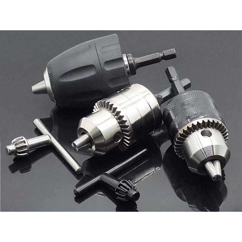 0.8-10mm Keyless Drill Chuck Screwdriver Impact Driver Adaptor Hex Shank Kit
