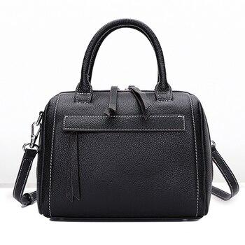 New 100% Genuine Leather Women Bags Female Real Leather Messenger Bag Korean Shoulder Bag Messenger Bag Sweet Bag