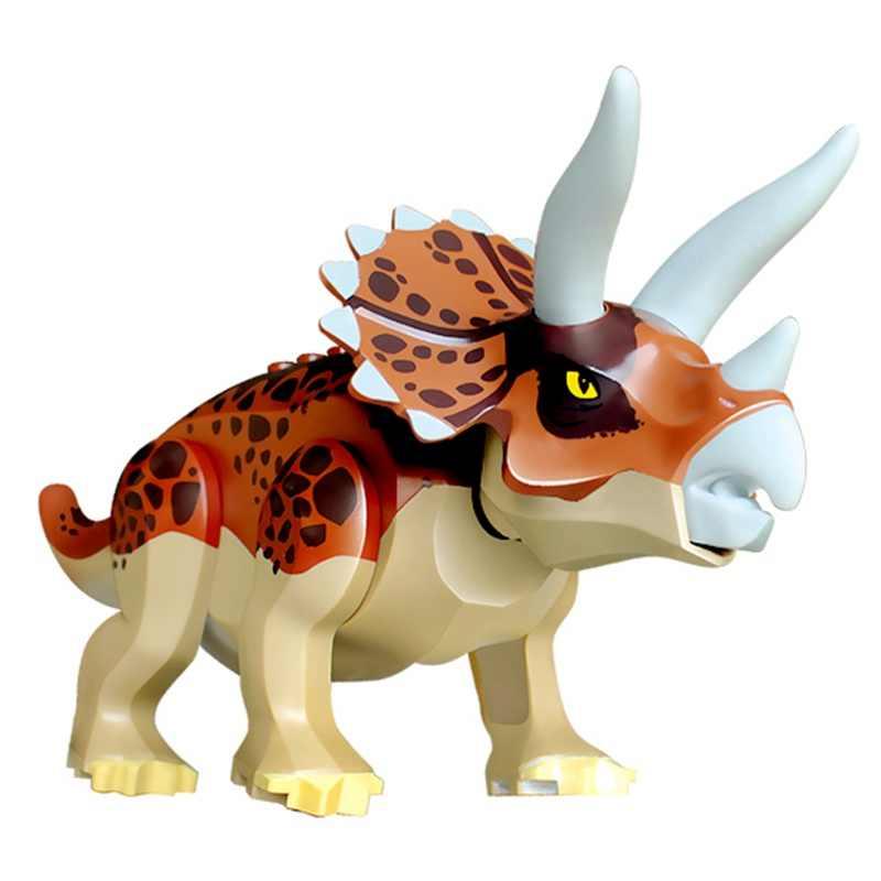 Jurassic Welt Dinosaurier Indoraptor Velociraptor Triceratop T-Rex Jurassic Park Tier Bausteine Ziegel Spielzeug für Kinder