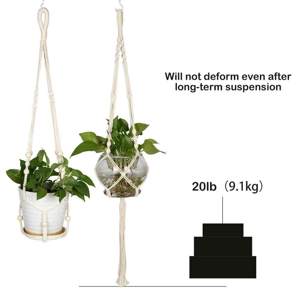 Ourwarm Handmade Macrame Vật Có Móc Treo Dụng Cụ Bào Treo Tường Trang Trí 100% Cotton Dây 4 Chân Hoa Giá Đỡ Dụng Cụ Làm Vườn