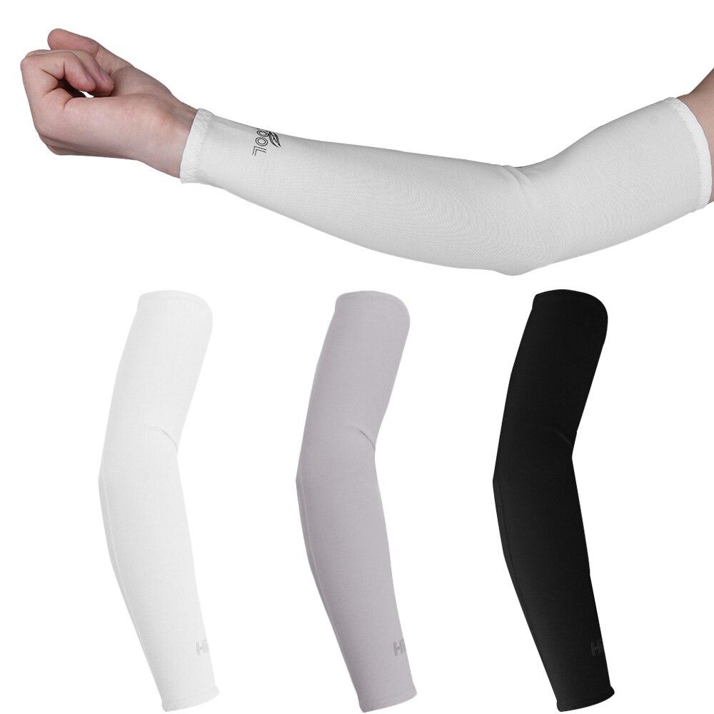 Mangas com proteção solar uv, cobertura de mão e resfriamento, 2 peças, aquecedor de braço, esportes, ciclismo, corrida, ski brazo