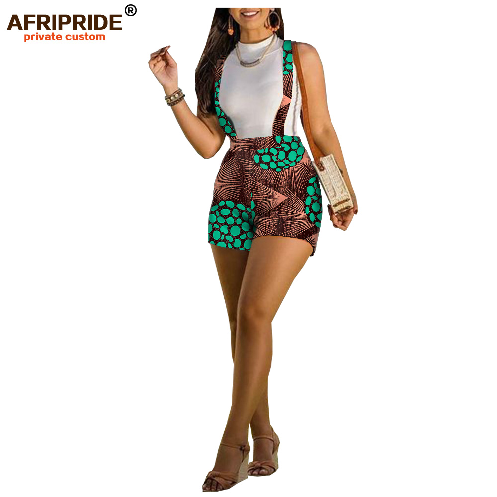 Afripride Ankara Print Summer Shorts For Women Tailor Made Plus Size100% Batik Cotton Women Shorts A1921001