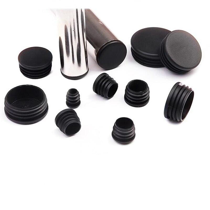 10 قطعة pvc الأنابيب المستديرة التوصيل الأسود 14-70 مللي متر غطاء حفرة الغبار الداخلي الأثاث الساق المكونات غطاء مقعد نهاية أغطية حامي الأجهزة