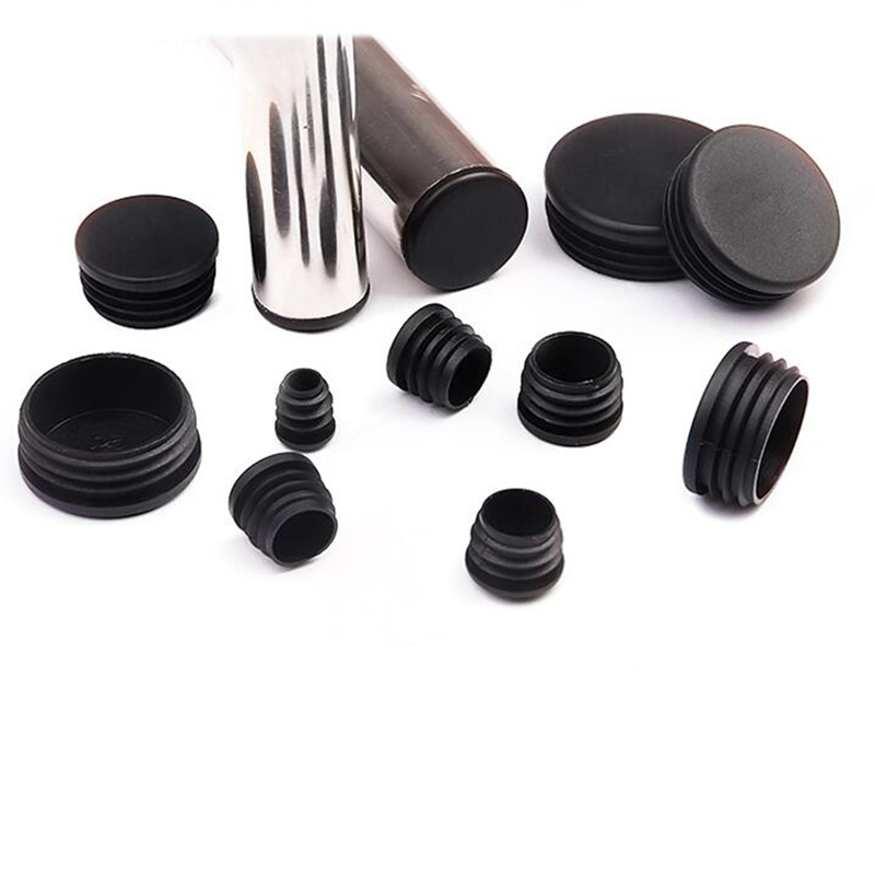 10Pcs Pvc Round Pipe Plug Black 14-70mm Inner Hole Dust Cover Furniture Leg Plug Chair Blanking End Caps Protector  Hardware
